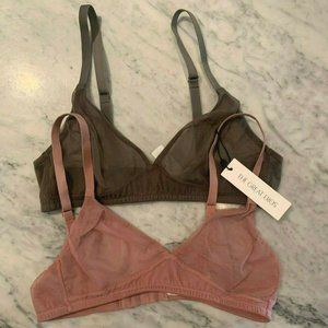 Mesh Bra Set Size Small Pink and Green